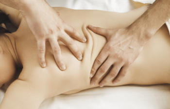 patient undergoing spinal manipulation