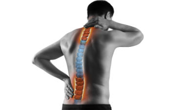 Man with sciatica nerve pain