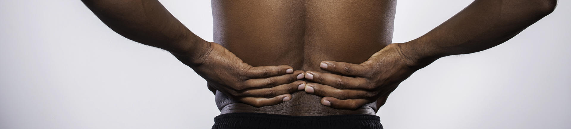 Afro-American man after hip pain treatment