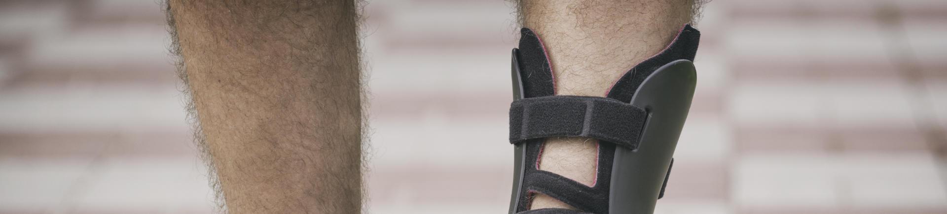 man wearing orthotics