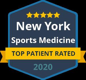 Badge Top Patient Rated New York Sports Medicine 2020