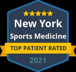 Badge Top Patient Rated New York Sports Medicine 2021